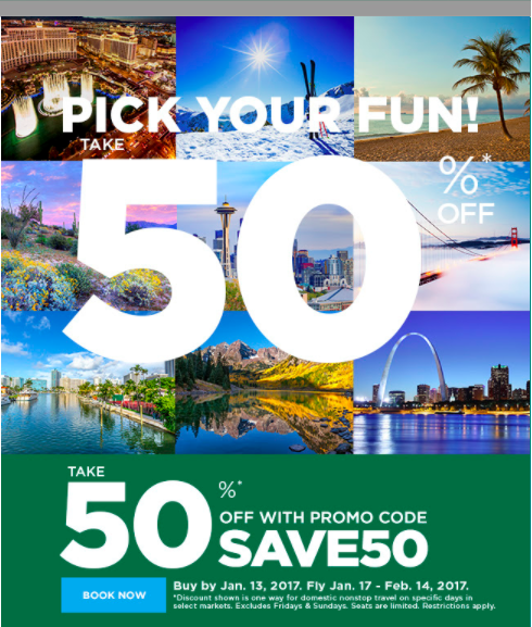Frontier 50% off sale with fewer restrictions than usual